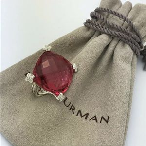 David Yurman 20mm Tourmaline Cushion On Point